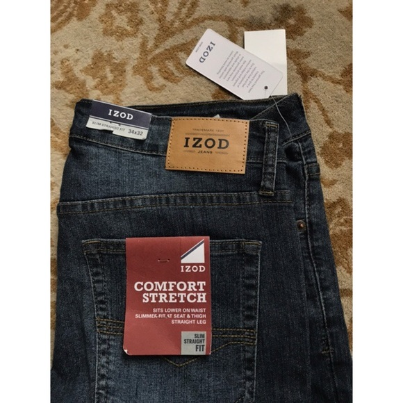 9d17c99583d48 NWT Izod Slim Straight Fit Comfort Stretch Jeans ! NWT